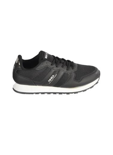 Bestof Bst-062 Siyah-Beyaz Unisex Spor Ayakkabı Siyah
